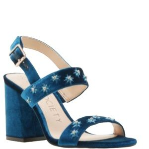 Sole Society Shoes - Sole Society Jessibel Blue Block Heel Sandal
